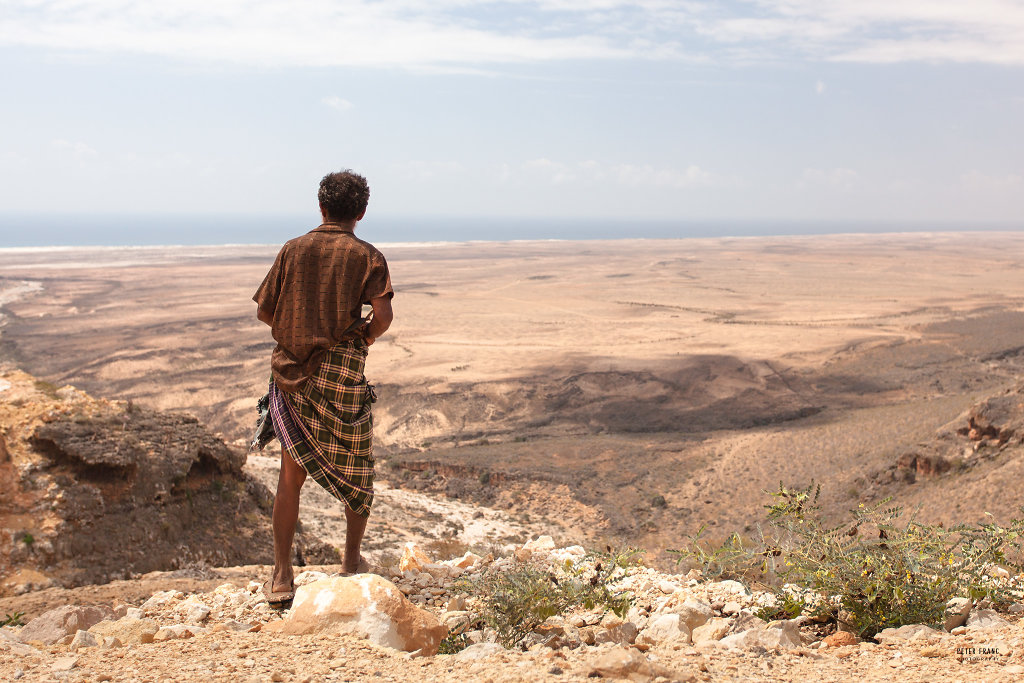 Socotra Island, View south from Diksam Plateau, 2010